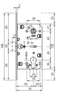 Механизм AGB Mediana Evolution под цилиндр белый