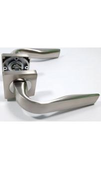 Дверная ручка AJAXEVO JK SN/CP-3 матовый никель/хром