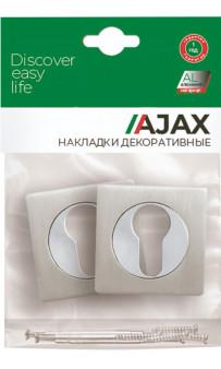 Накладка под цилиндр AJAX ET JK SN/CP-3 матовый никель/хром