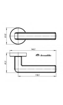 Дверная ручка Armadillo CUBE URB3 SN/CP/SN-12 матовый никель