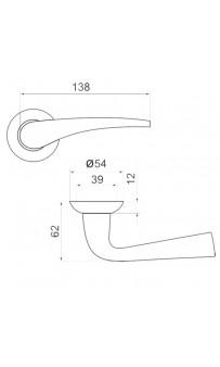 Дверная ручка Armadillo Capella LD40-1 AB/GP-7 бронза/золото