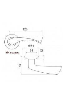 Дверная ручка Armadillo Corona LD23-1 SN/CP-3 матовый никель