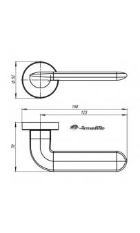 Дверная ручка Armadillo EXCALIBUR URB4 BPVD-77 Вороненый никель