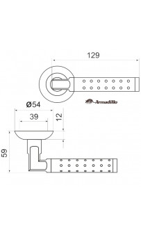 Дверная ручка Armadillo Eridan LD37-1 SN/CP-3 матовый никель