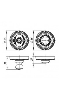 Фиксатор Armadillo WC-BOLT BK6-CL-AS-9 античное серебро