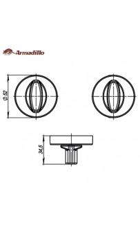 Фиксатор Armadillo WC-BOLT BK6-URB-SN-3 матовый никель