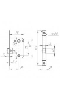 Механизм Armadillo LH 721-50 WC AB бронза