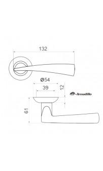 Дверная ручка Armadillo Columba LD80-1 AB/GP-7 бронза/золото