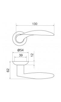 Дверная ручка Armadillo Diona LD20-1 SN/CP-3 матовый никель
