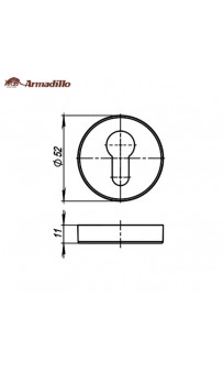 Накладки Cylinder Armadillo  ET URB BPVD-77 Вороненый никель