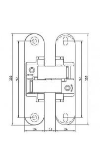 Петли скрытые Anselmi AN 140 3D AB античная бронза (1 шт.)