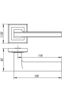 Дверная ручка Punto BLADE QL GR/CP-23 графит/хром