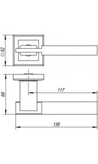 Дверная ручка Punto CITY QL GR/CP-23 графит/хром