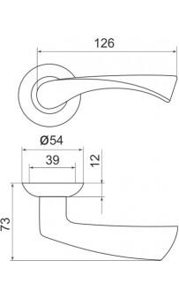 Дверная ручка Punto CLASSIC TL ABG-6 матовый никель/хром