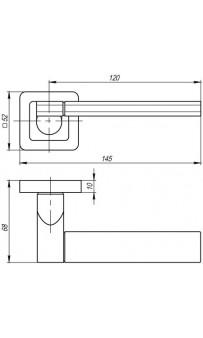 Дверная ручка Punto GALAXY QR GR/CP-23 графит/хром