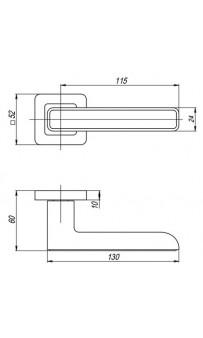Дверная ручка Punto MARS QR SN/CP-3 матовый никель/хром + вставка белая