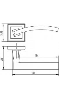 Дверная ручка Punto NAVY QL CF-17 кофе