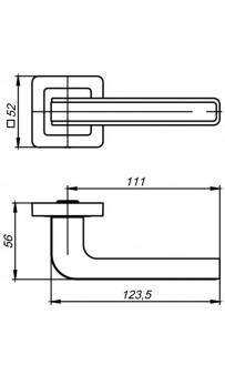 Дверная ручка Punto NOVA QR SN/CP-3 матовый никель/хром
