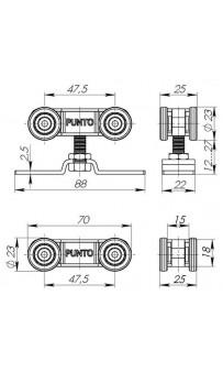 Раздвижная система Punto Soft LINE 45/4 длина профиля 2 м