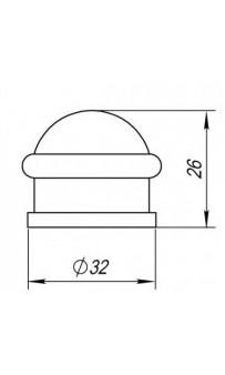 Упор дверной Punto DS PF-26 SN-3 матовый никель