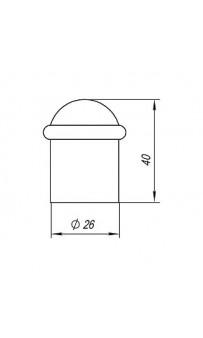 Упор дверной Punto DS PF-40 CP-8 хром