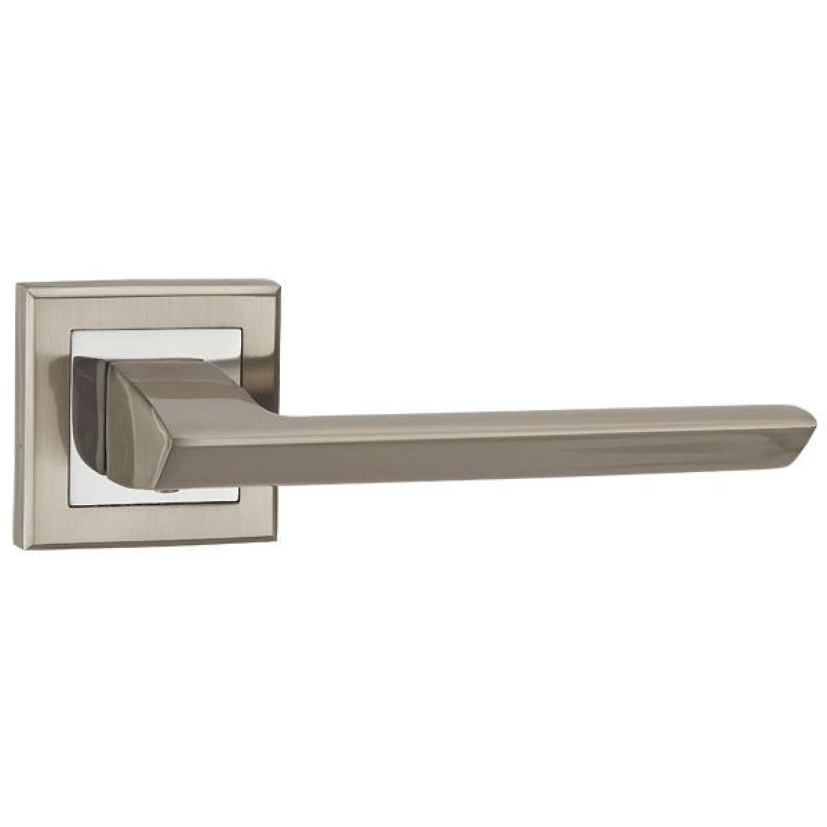 Дверная ручка Punto BLADE QL SN/CP-3 матовый никель/хром