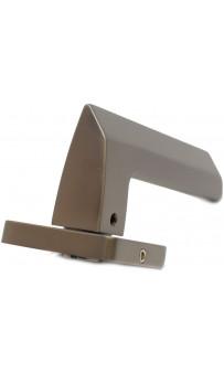 Дверная ручка Safita 150 R40 MSB/CP графит/хром