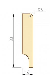 Плинтус МДФ PS Standard 80х16х2060 мм эш вайт KORFAD