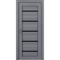 Межкомнатная дверь Modern Lazio BLK полустекло Rodos