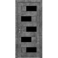 Межкомнатная дверь Modern Verona BLK полустекло Rodos