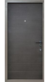 Входная дверь BEREZ Standart Бревис Plus Венге серый горизонт