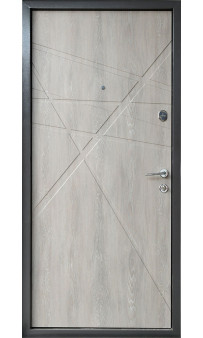 Входная дверь BEREZ Standart Sierra дуб шале графит / дуб шале седой