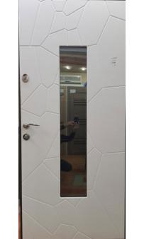Входная дверь Magda Тип 4 Ковка 19 коричневая /Модель 142 белое дерево
