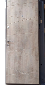 Входная дверь Magda Тип 2 Модель 100 бетон темный /бетон светлый
