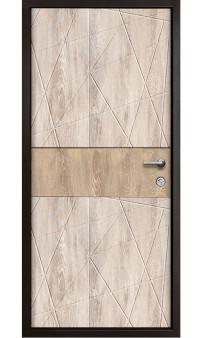 Входная дверь Magda Тип 2 Модель 604 дуб песочный/дуб янтарный