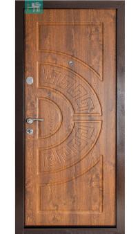 Входная дверь ПУ-08 метал /мдф дуб золотой