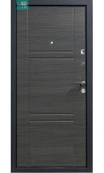 Входная дверь ПУ-132 полуторная метал /мдф вeнгe ceрый гoризoнт 1200 мм