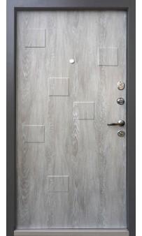 Входная дверь QDOORS Ультра Рондо дуб графит / дуб шале седой