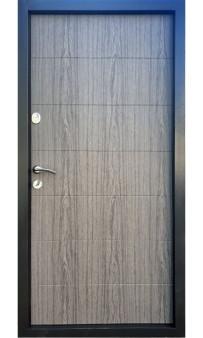 Входная дверь Qdoors Вип М Горизонталь графит/дуб вулканический