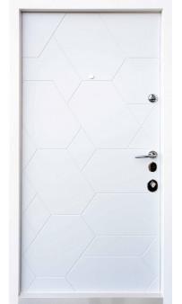 Входная дверь QDOORS Авангард Поло элегант серый / белый супермат