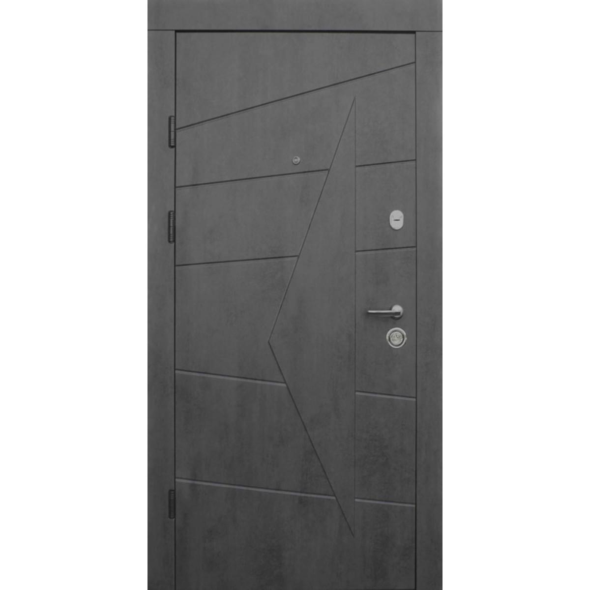 Входная дверь QDOORS Премиум Акцент бетон темный /бетон серый