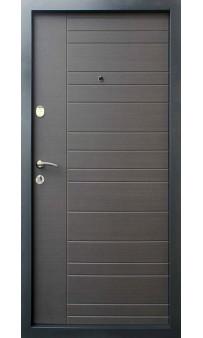 Входная дверь QDOORS Премиум Альт-М венге серый горизонт ТМП , вставка дуб флорида
