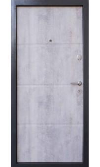 Входная дверь QDOORS Премиум Бостон-М бетон темный, вставка дуб табак /бетон светлый