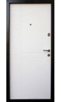 Входная дверь QDOORS Премиум Делла Al светло серая / белое дерево