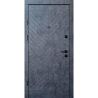 Входная дверь QDOORS Премиум Некст мрамор темный / бетон бежевый