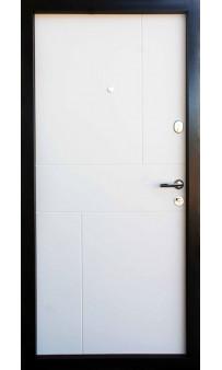Входная дверь QDOORS Премиум Стиль-М венге серый горизонт АРТ / белое дерево
