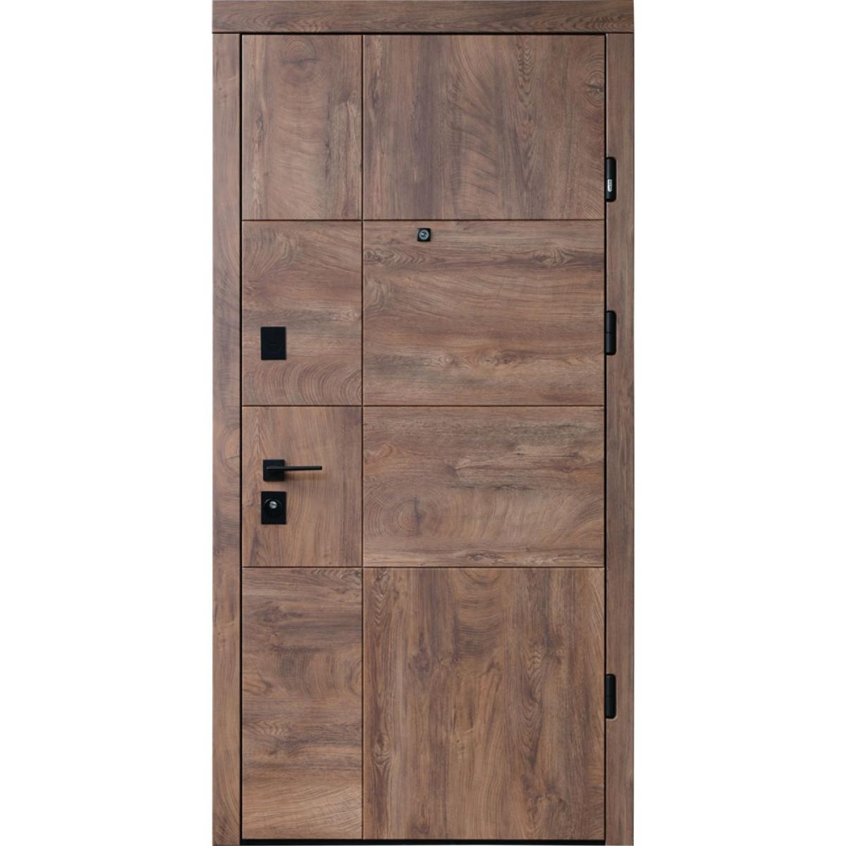 Входная дверь Straj LUX Standart Mottura Terra Z New Спил дерева коньячный