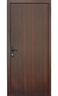 Входная дверь металл / ДСП темный орех