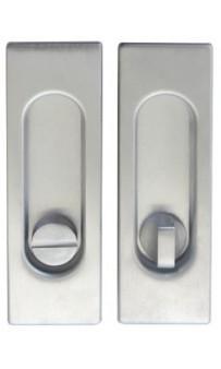 Ручка на раздвижные двери Fimet 3663AR F05 матовый хром (комплект)
