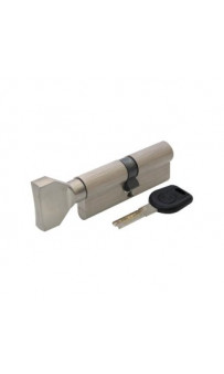 Цилиндр BRUNO SECURITY 40/40мм лаз. 80мм 5кл плоск. повор. никель